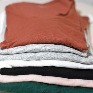 7 BUNDLE j crew long sleeve vintage cotton tees